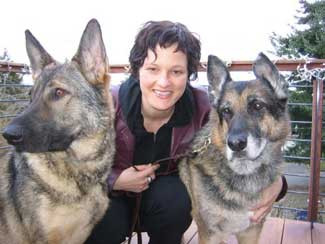 Eva and her dogs